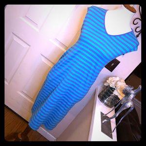 The Original Marimekko Striped Cap Sleeve Dress